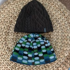 Bundle of 2 Patagonia Pistil Boys Wool Beanies